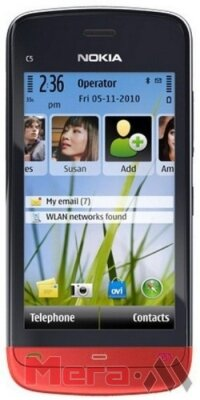 Nokia C5-03 black-red